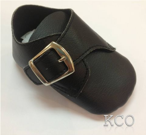 Style FJS004 Black~Boys Black Shoes